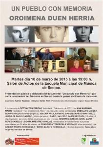 cartel presentacion UN PUEBLO CON MEMORIA